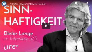 Dieter Lange im Interview: Monotone Glücksmomente