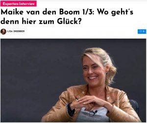 Maike van den Boom im Interview: Wo geht's zum Glück?