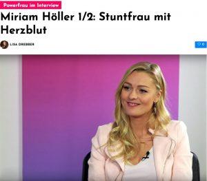 Miriam Höller im Interview: Stuntfrau mit Power & Herzblut
