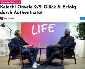 Kelechi Onyele im Interview: Glück & Erfolg durch Authentizität