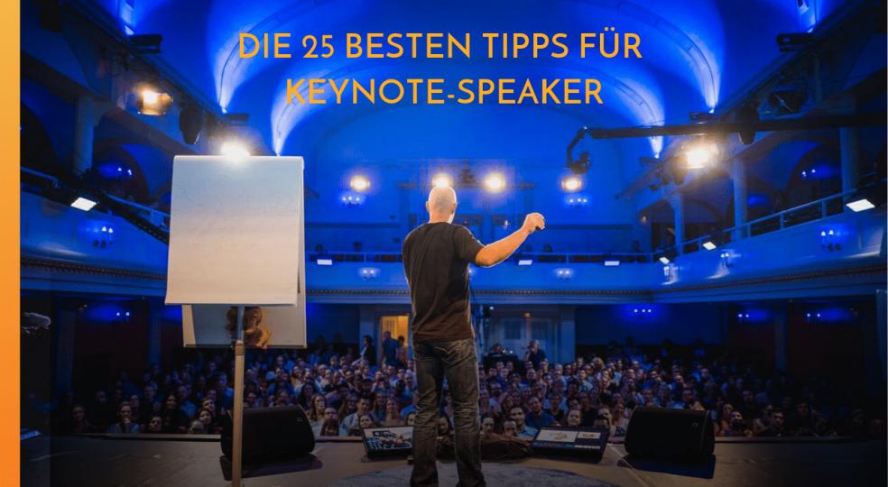 Giving a talk: The 25 best speaker tips